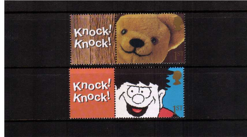 view larger image for SG LS9set (2002) - ''Knock Knock'' Teddy Bear and Dennis the Menace set of two