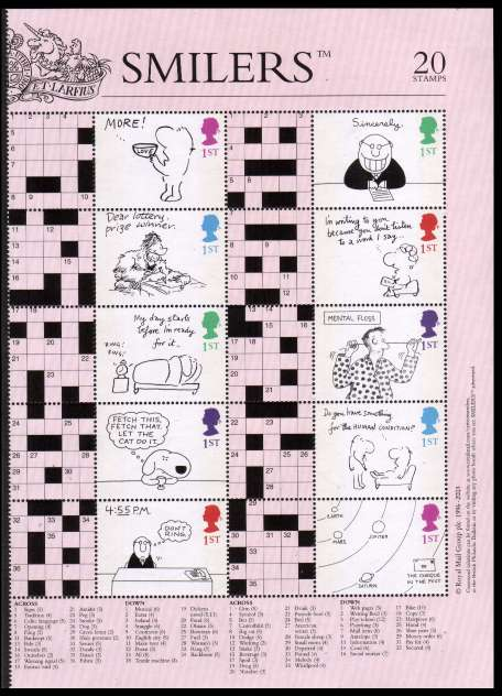 view larger image for SG LS13half (2003) - Crossword Cartoons half sheet