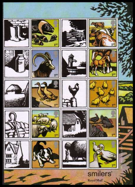 view larger image for SG LS22half (2005) - Farm Animals half sheet 