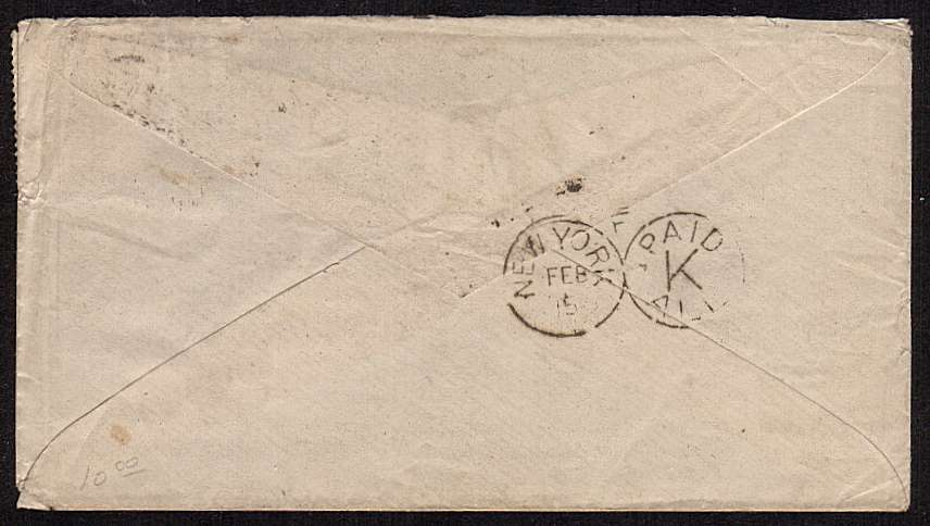 view larger back view of image for 2�d Blue from Plate 22 lettered 'R-D' cancelled with a C93 duplex for TWICKENHAM dated FE 4 82 on small complete envelop to BOSTON USA and then re-directed.