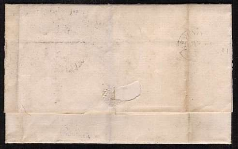 view larger back view of image for 2�d Rosy Mauve from Plate 13 lettered 'L-L' cabcelled with a LIVERPOOL EXCHANGE duplex dated 21 DE 78 to CHARLESTOWN S.C. (no USA)
