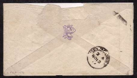 view larger back view of image for 8d Orange on small envelope cancelled with a KENDAL duplex dated SP 27 77 to VICTORIA - AUSTRALIA. Scare stamp on coverSG Cat �500